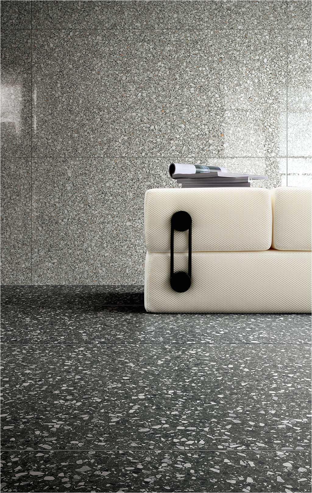 Black Paint Floor Covering Le Veneziane Di Cerim Terrazzo Porcelain Tiles Florim Tiles