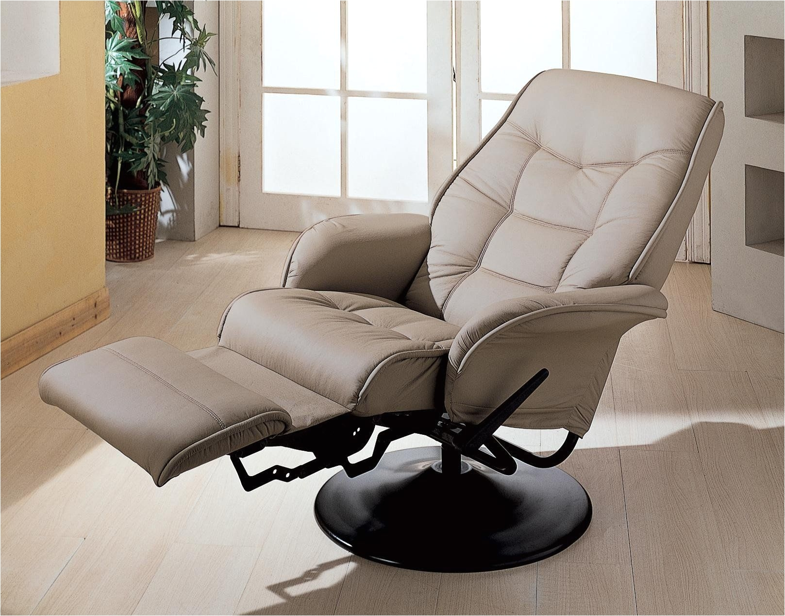 casual style beige recliner chair