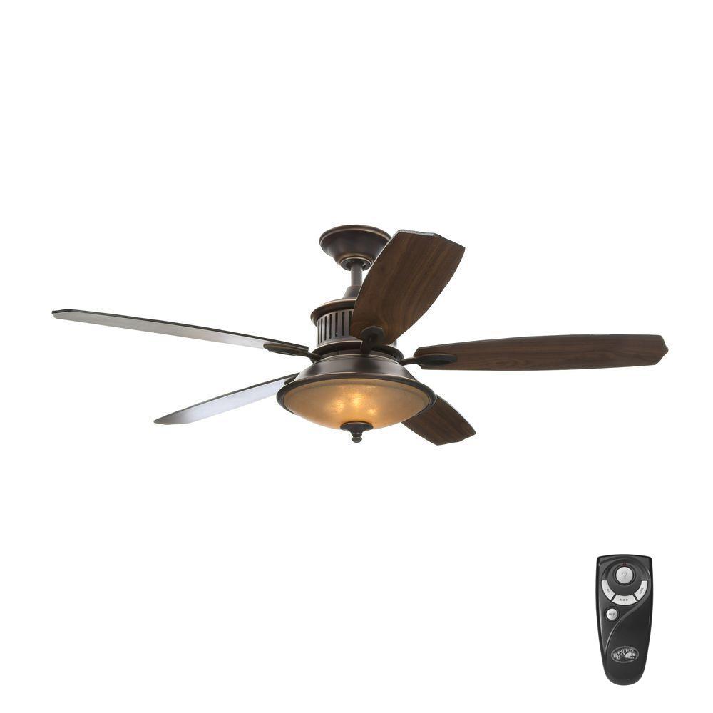 Bronze Floor Standing Fan Hampton Bay Devereaux Ii 52 In Indoor Oil Rubbed Bronze Ceiling Fan