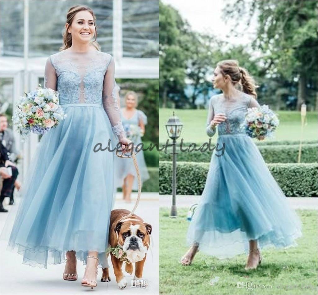 Cap Sleeve Bridesmaid Dresses Floor Length Fashion Lace Country Bridesmaids Dresses A Line Sheer Bateau Neck