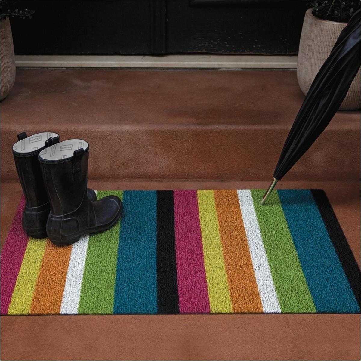 Chilewich Floor Mats Sale Chilewich Shag Bold Stripe Door Mat 46x71cm Ambientedirect