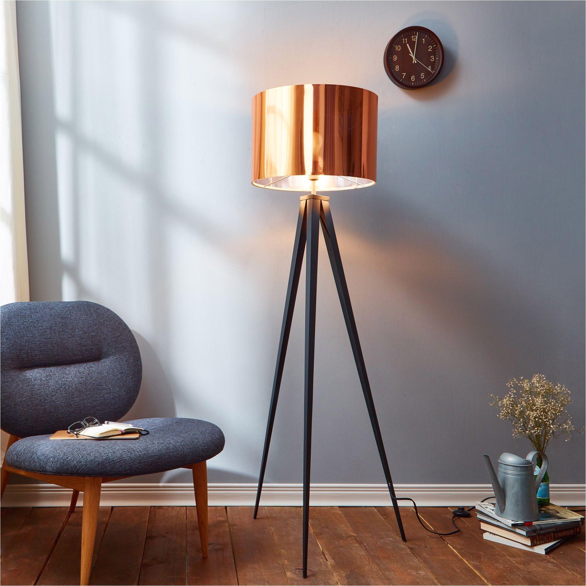 Crate and Barrel Stilt Floor Mirror Versanora Romanza TriPod Floor Lamp with Copper Brown Shade