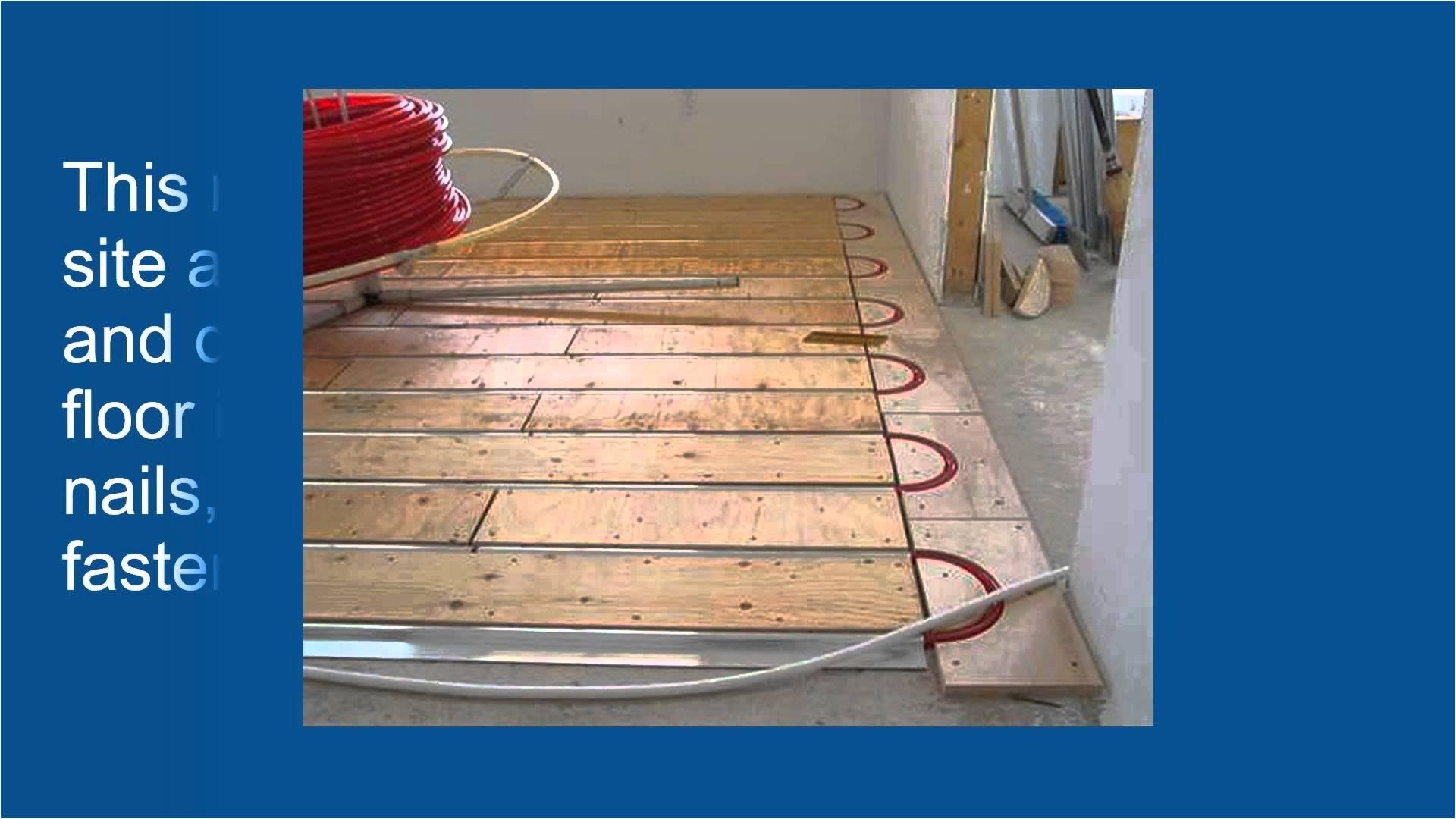 Diy Heated Floor Kit Advantages Of thermofin U for Radiant Heated Floors Youtube