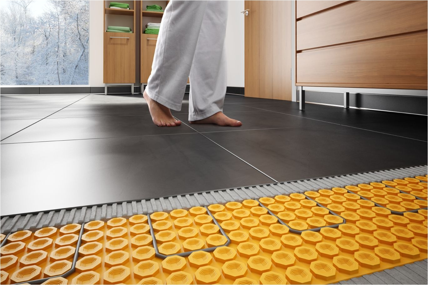 Diy Heated Floor Kit Schlutera Ditra Heat Floor Warming Schluter Com