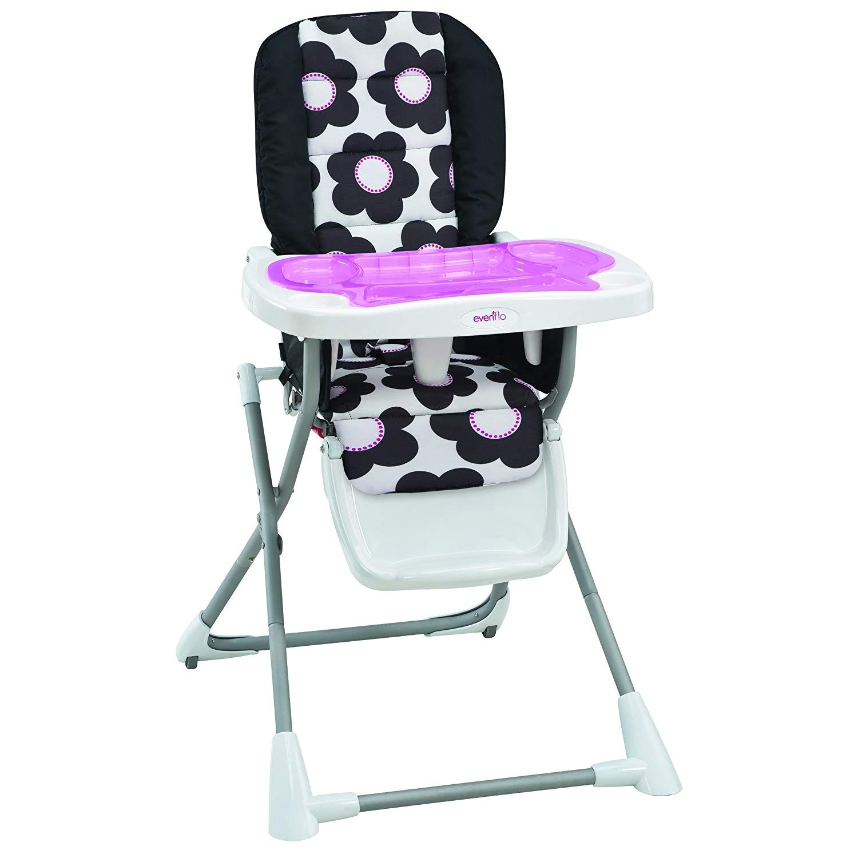 Evenflo Compact Fold High Chair Marianna Amazon Com evenflo Symmetry Flat Fold High Chair Taylor Baby