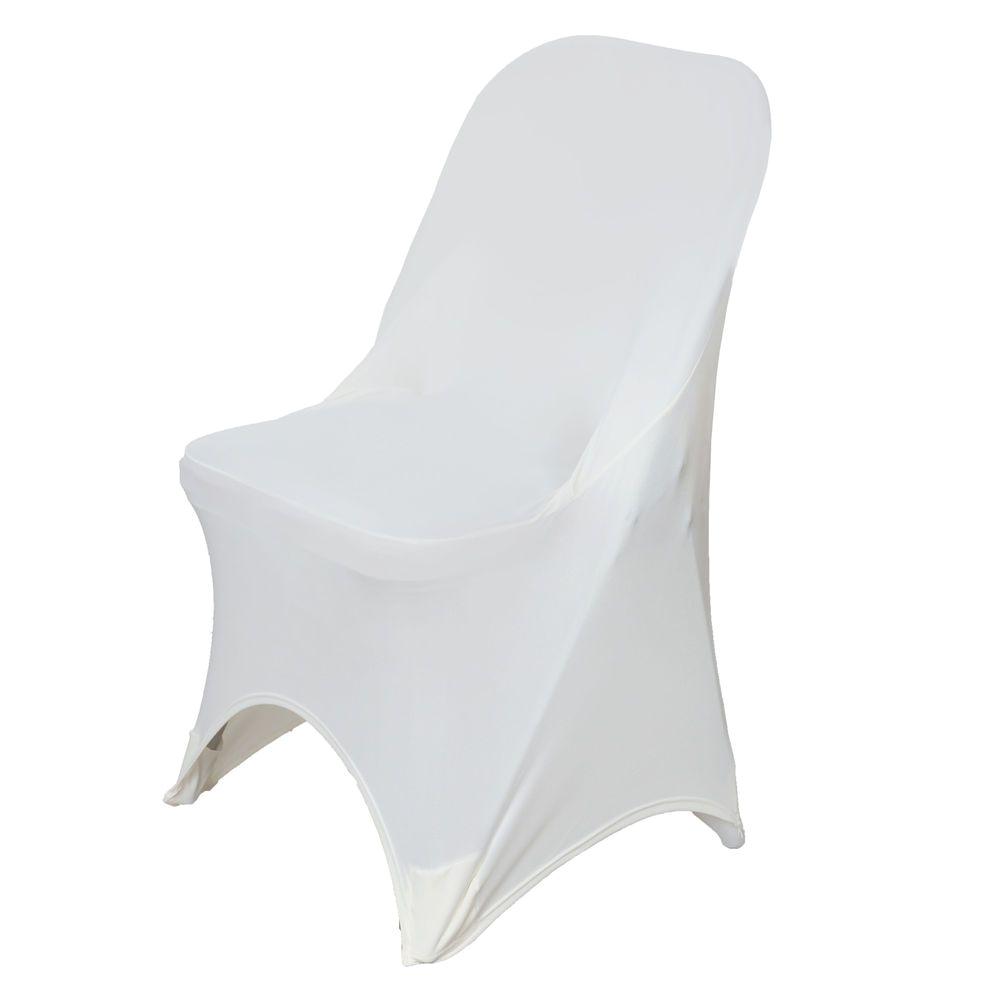 Flexible Love Folding Chair Ebay Ivory Spandex Chair Cover for Folding Chairs Each Chair Cover