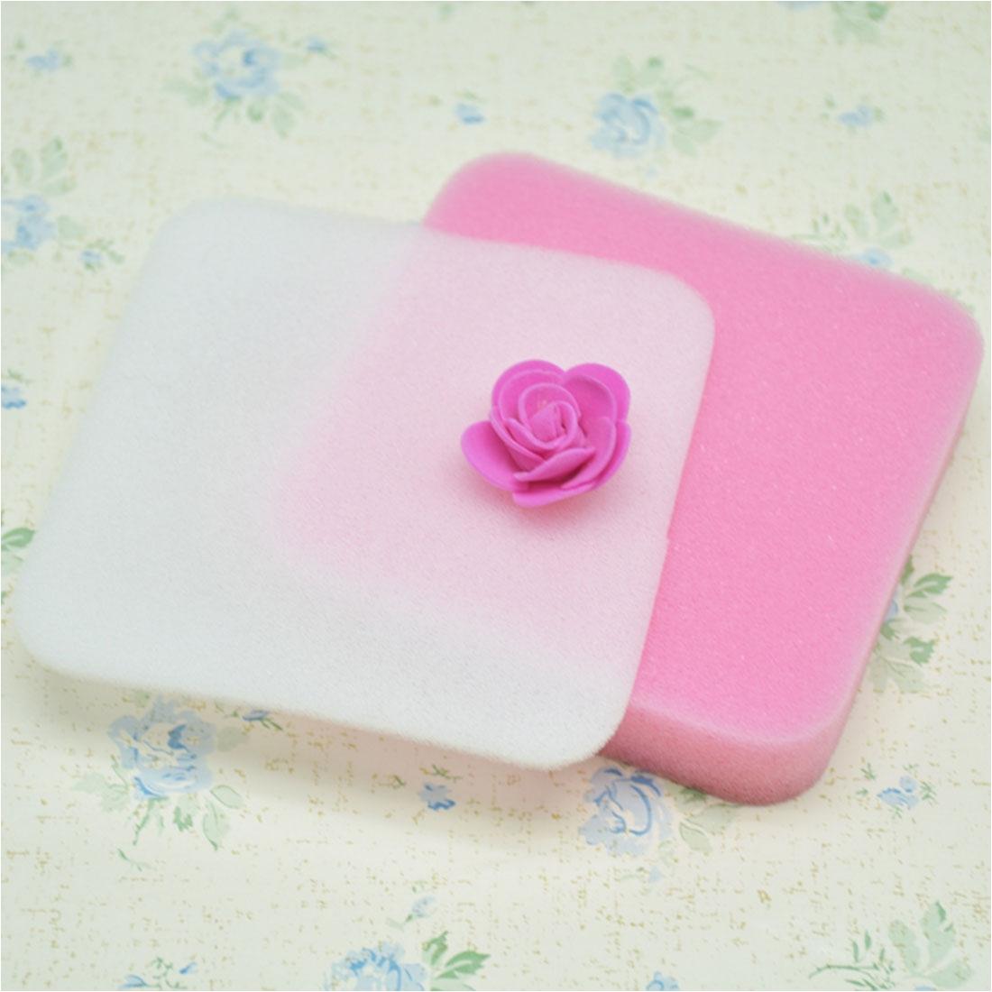 Foam Pads for Flower Making 2pcs Fondant Flower Shapes Mat Shaping Foam Pad Sponge Gum Paste