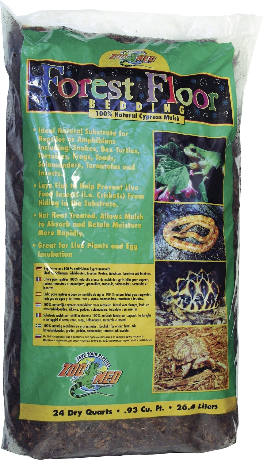 Forest Floor Cypress Mulch Zoo Med forest Floor Natural Cypress Mulch Reptile Bedding 24 Qt