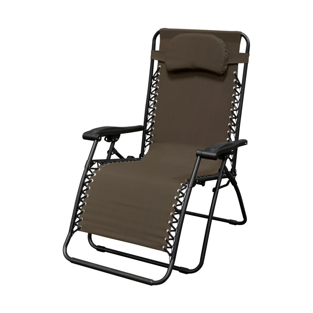 Home Hardware Bungee Chair Caravan Sports Infinity Oversized Brown Metal Zero Gravity Patio