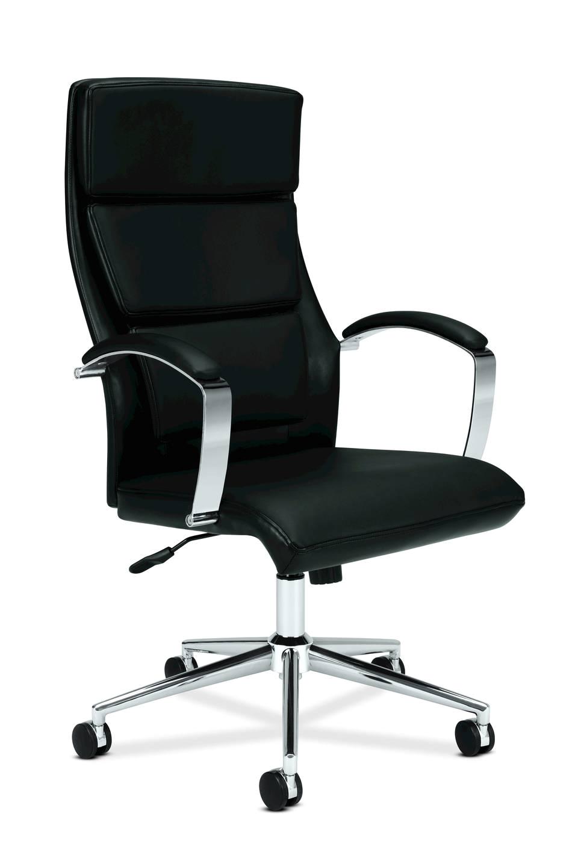 How to Clean A Cloth Computer Chair Basyx by Hon Executive softhread Leatherchrome High Back Chair 46 H