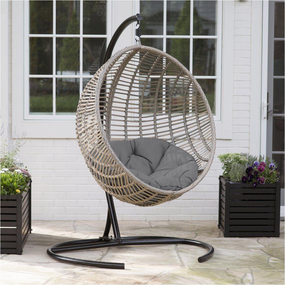 How to Make A Teardrop Swing Chair island Bay Resin Wicker Kambree Rib Hanging Egg Chair with Cushion