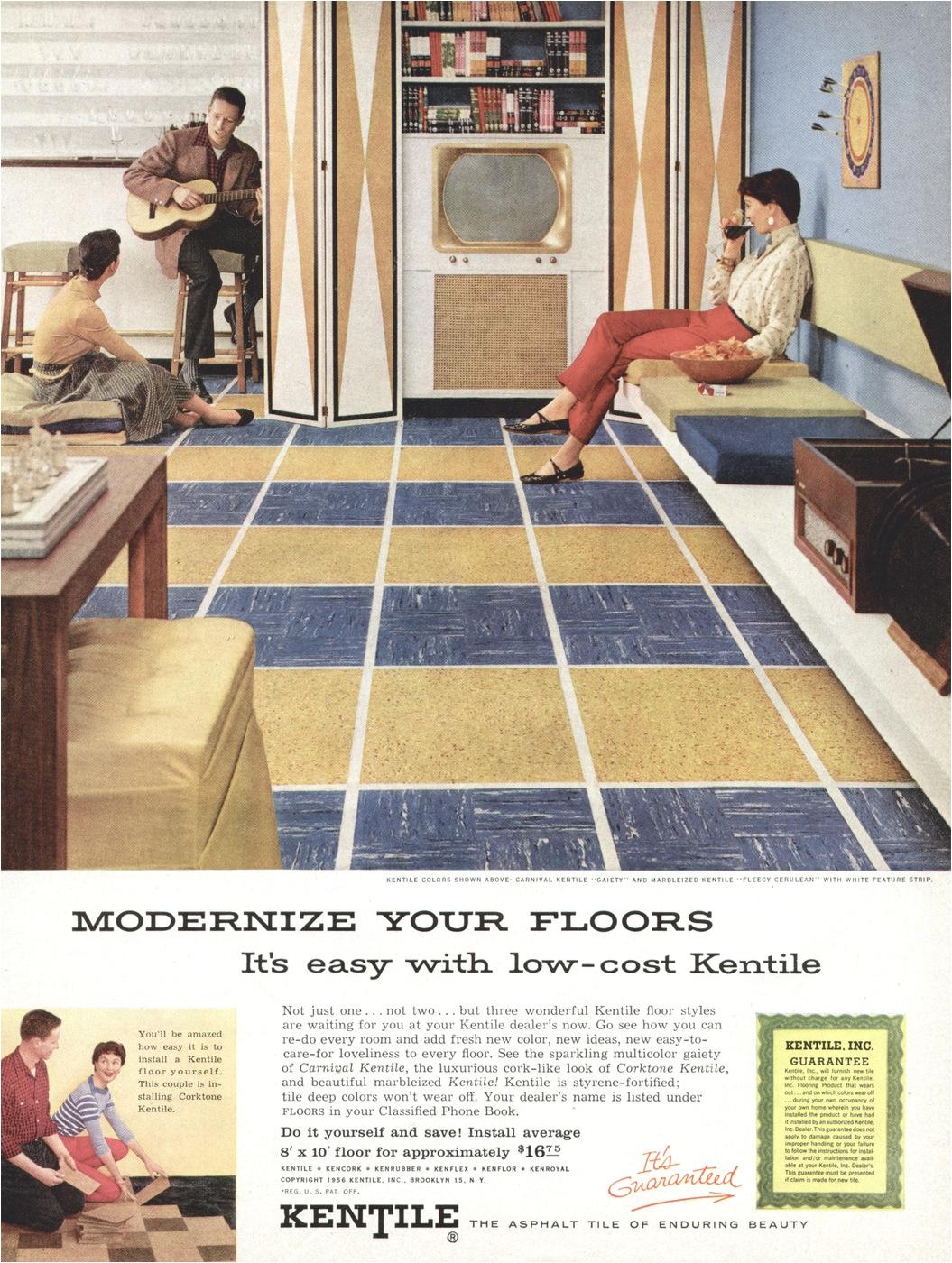 Kentile asphalt Floor Tile Kentile Flooring Advertisement Gallery
