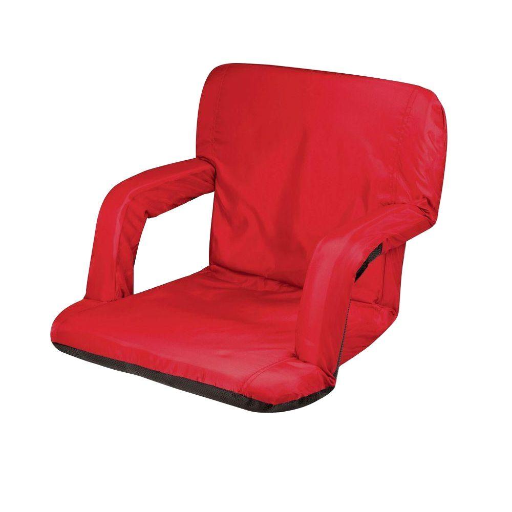 Picnic Time Ventura Folding Stadium Chair Picnic Time Red Ventura