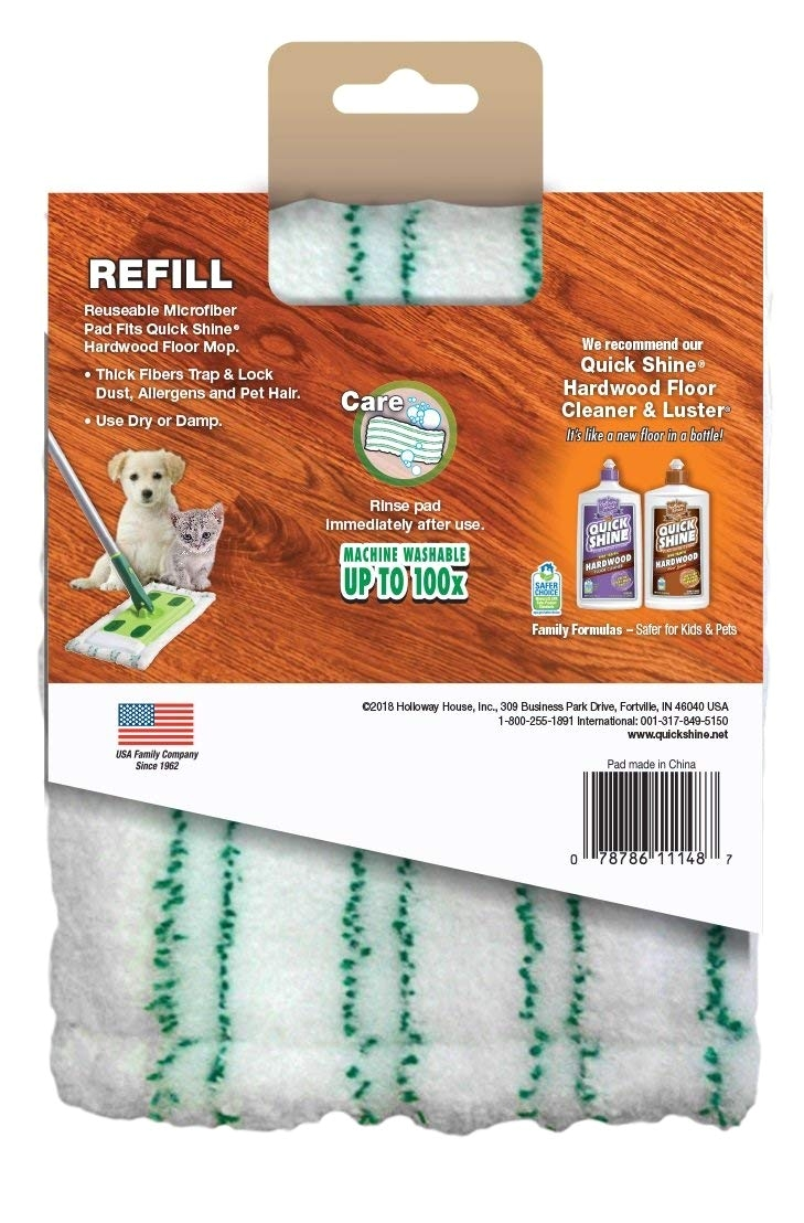 Quick Shine High Traffic Hardwood Floor Luster and Polish Amazon Com Quick Shine Hardwood Floor Mop Pad Cover Refill White