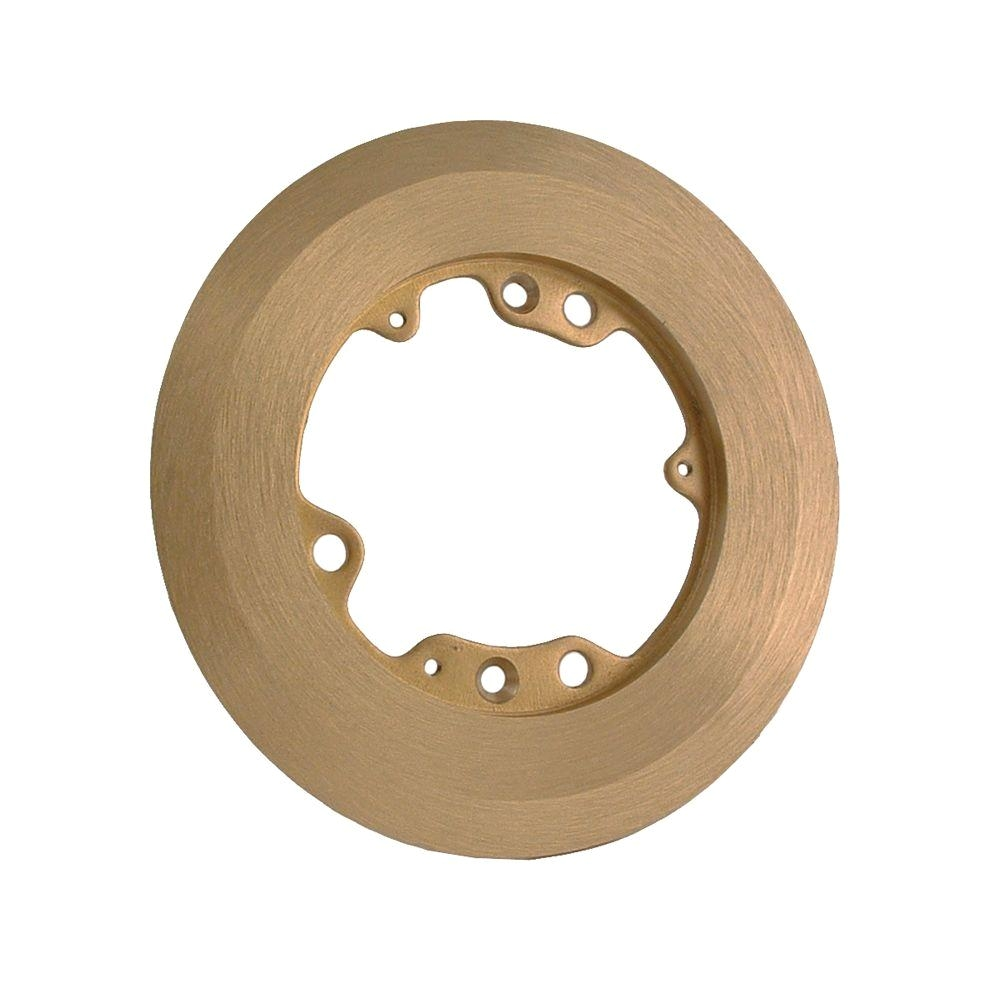Raco Brass Floor Outlet Cover Raco 6 1 4 In Round Brass Carpet Flange 6235 the Home Depot