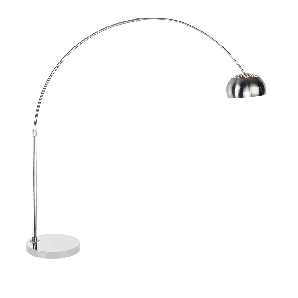 Replica Achille Castiglioni Arco Floor Lamp Mid Century Modern Reproduction Arco Floor Lamp Round White Marble