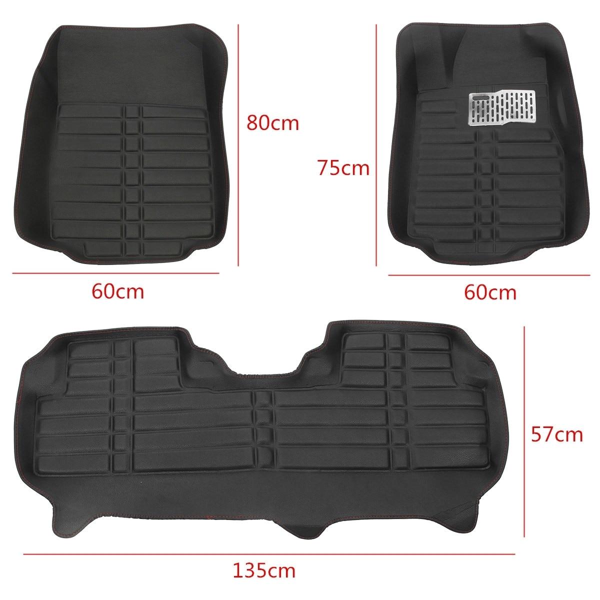 Safety First Floor Mat Car Floor Mats Front Rear Floor Pu Leather Mat Liner Carpets for