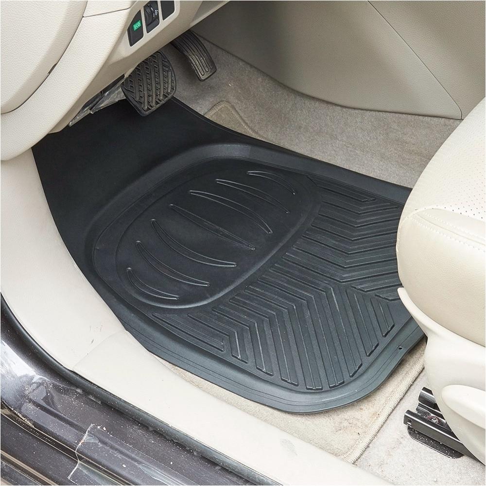Safety First Floor Mat Car Floor Mats Silica Gel Front Rear Driver Passenger Seat Ridged