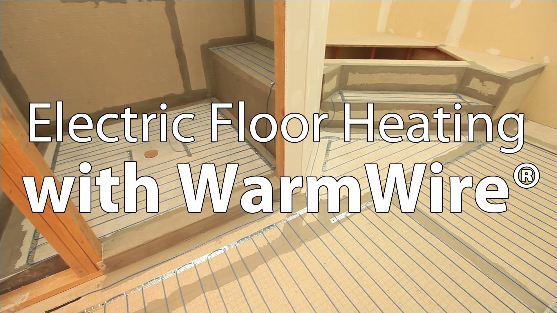 Suntouch Heated Floor System Electric Floor Heating with Suntoucha Warmwirea Youtube