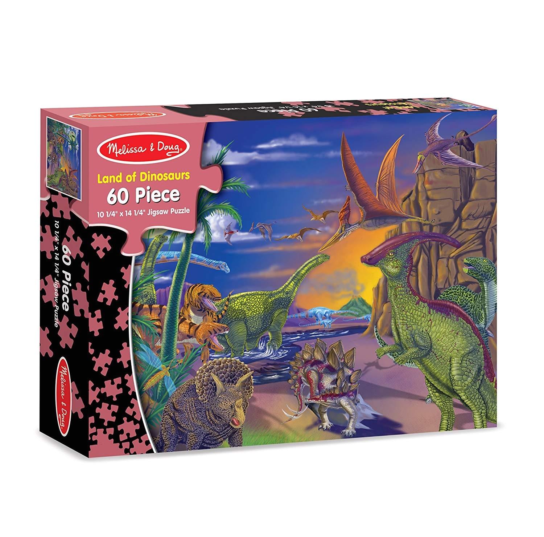 Toys R Us Melissa and Doug Floor Puzzles Amazon Com Melissa Doug 60 Piece Land Of Dinosaurs Jigsaw Puzzle