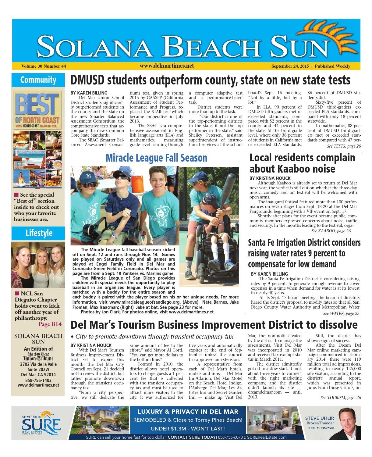 Trio Paint Floor Covering Burton Mi solana Beach Sun 9 24 15 by Mainstreet Media issuu