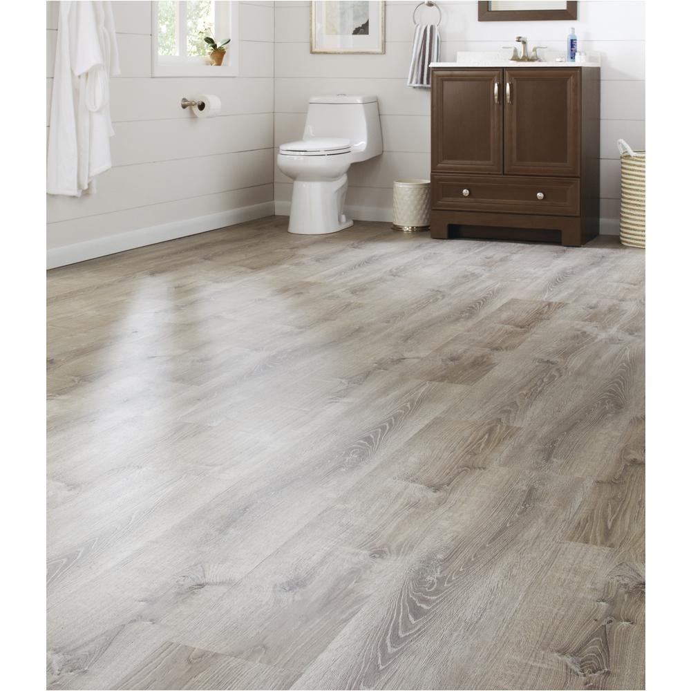 Waterproof Stick Down Flooring Lifeproof Sterling Oak 8 7 In X 47 6 In Luxury Vinyl Plank