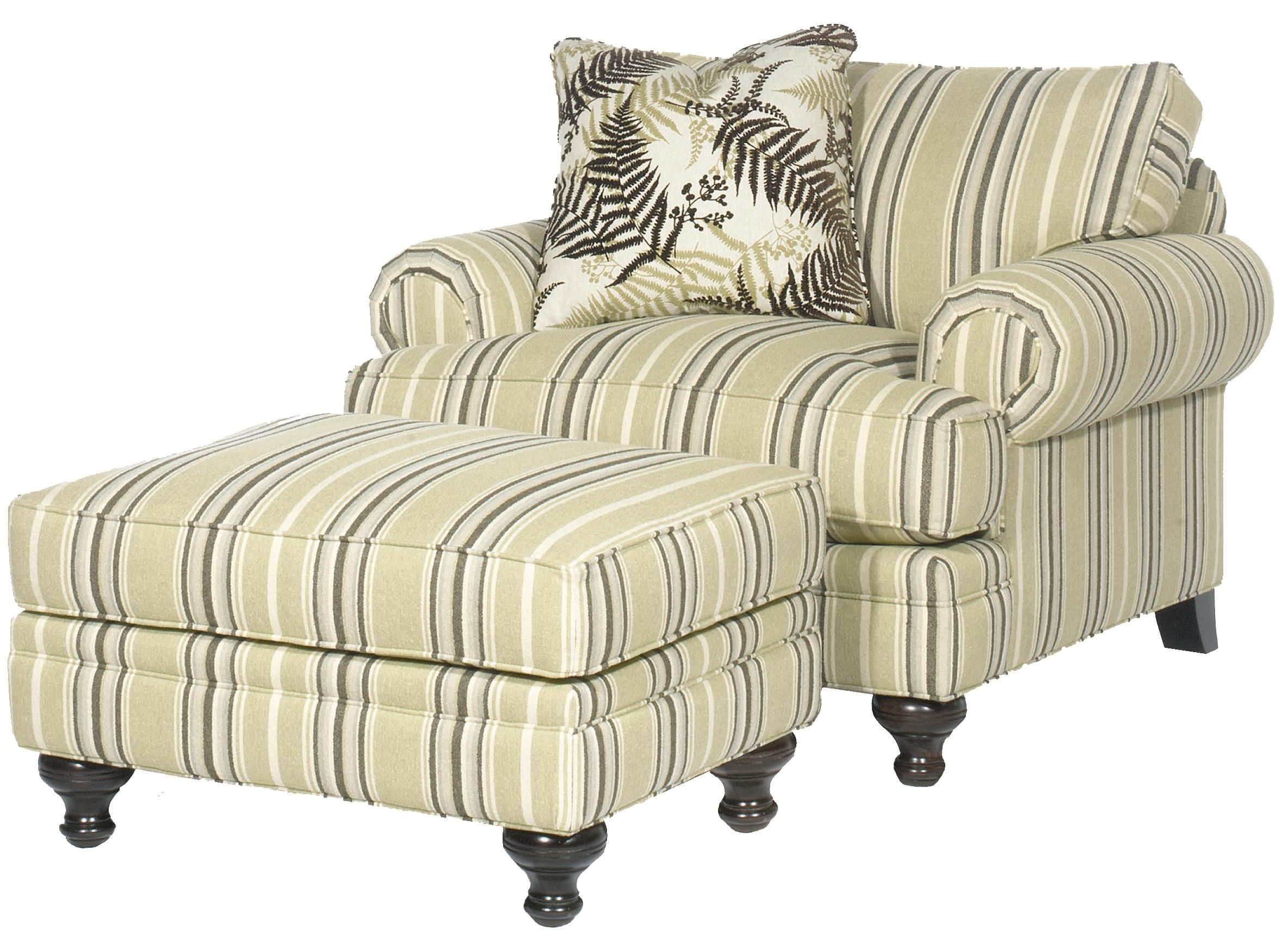 White Chair and A Half with Ottoman Paula Deen Home Upholstered Chair and A Half with Rolled Arms by