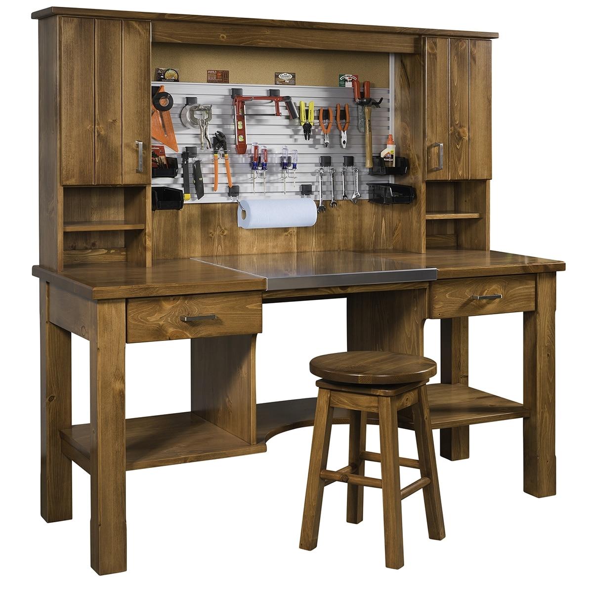Amish Workbench Furniture Murphy Workbench Mattie Lu