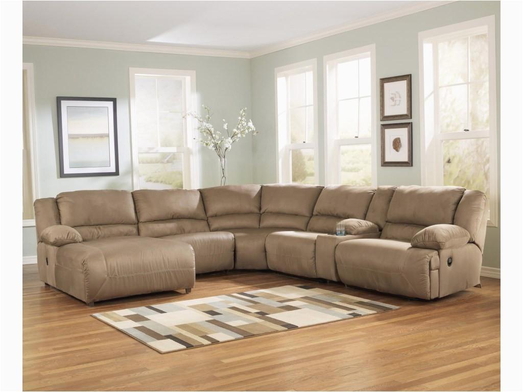 signature design by ashley hogan mocha6 piece sectional sofa group