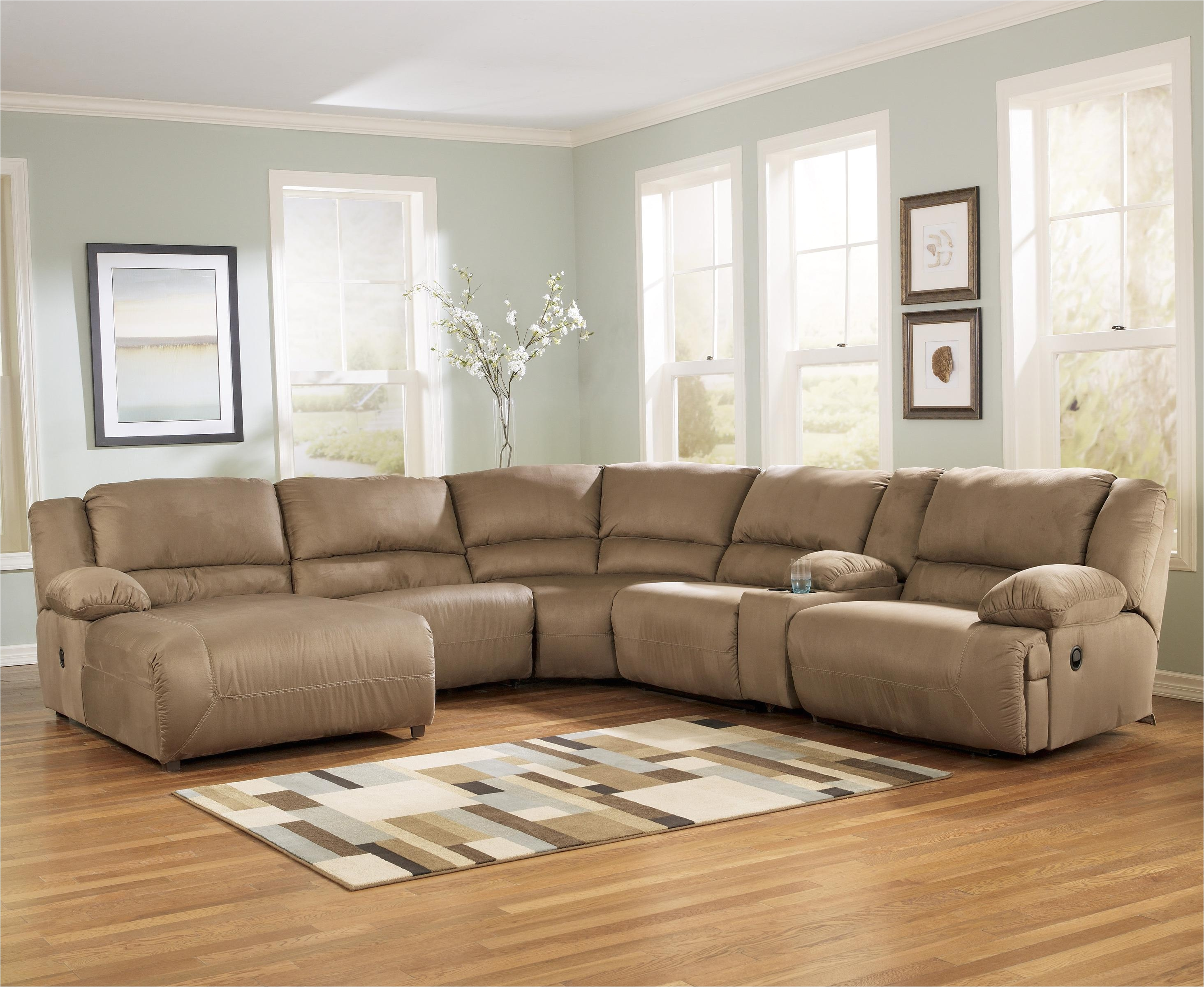 Ashley Furniture Midland Tx Signature Design by ashley Hogan Mocha 6 Piece Motion Sectional