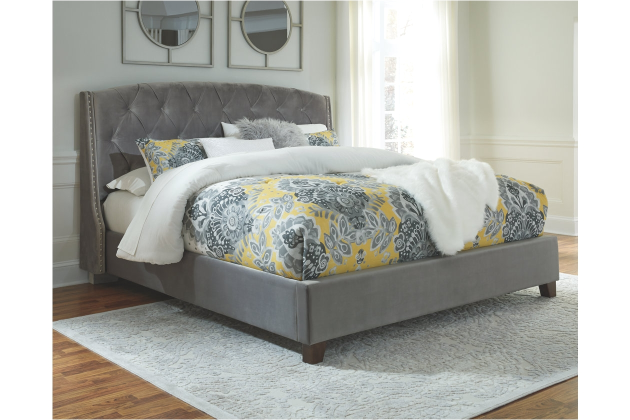 kasidon king tufted bed ashley furniture homestore