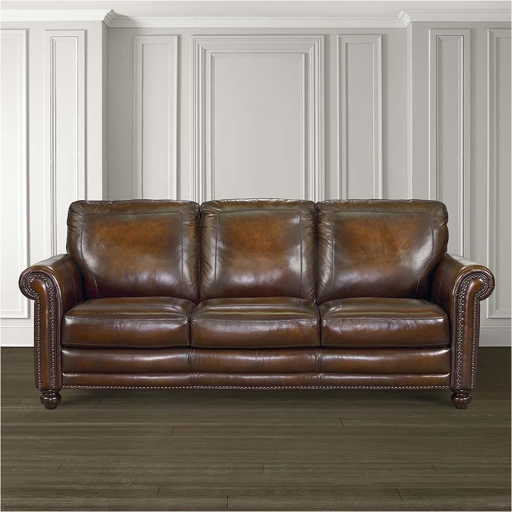 Bassett Furniture Houston Hamilton sofa Leather Living Room Bassett Furniture