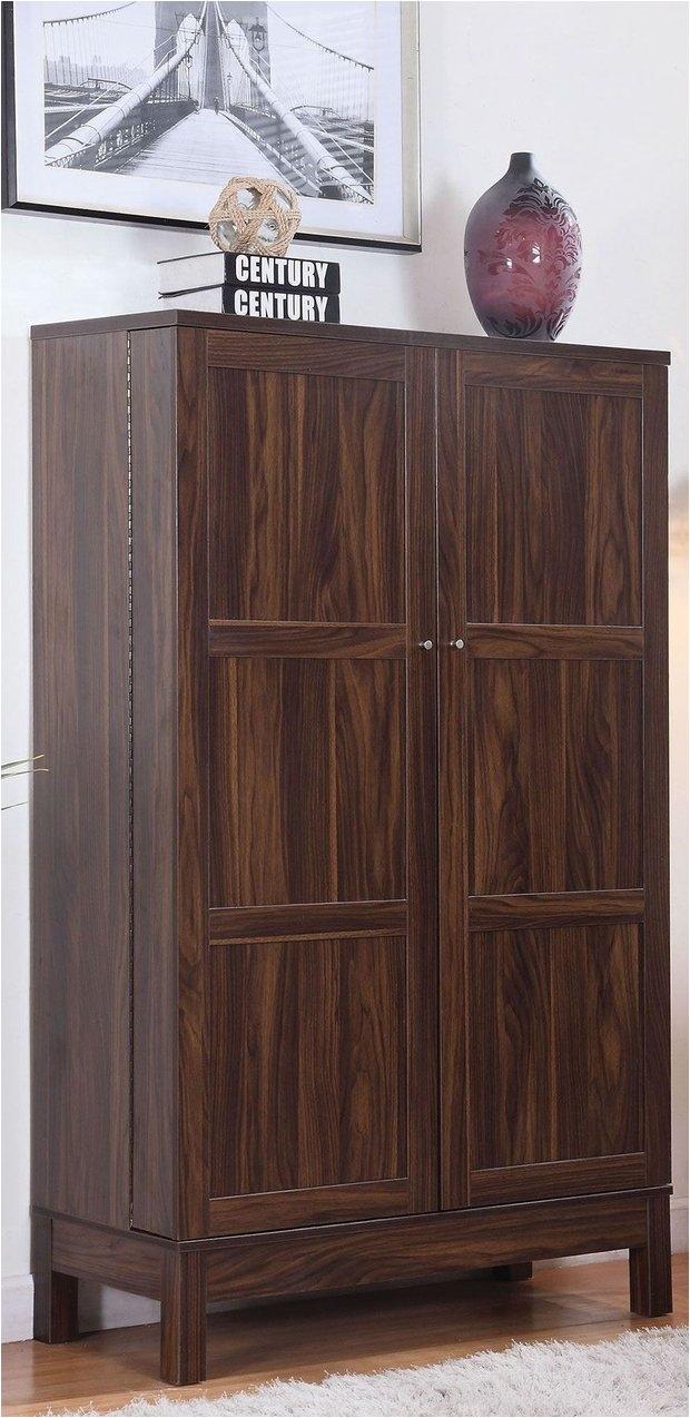 dark walnut bar cabinet