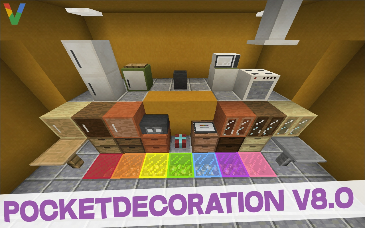 pocketdecoration 8 0 furniture mod for minecraft pe mcpe mods tools minecraft pocket edition minecraft forum minecraft forum