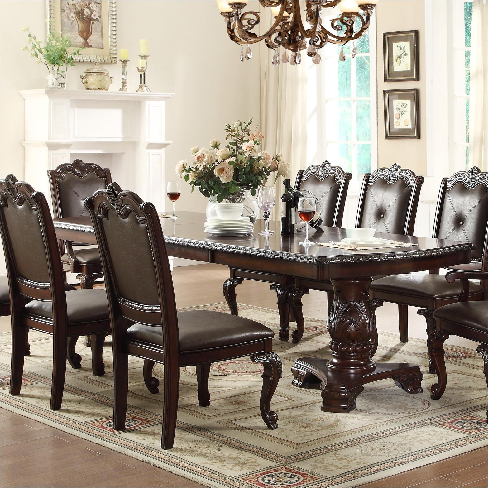 crown mark kiera dining table item number 2150t 44108 legtop