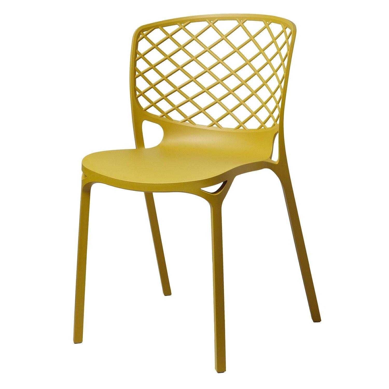 gold sparrow kristoff dark yellow stackable chairs set of 2 dark yellow