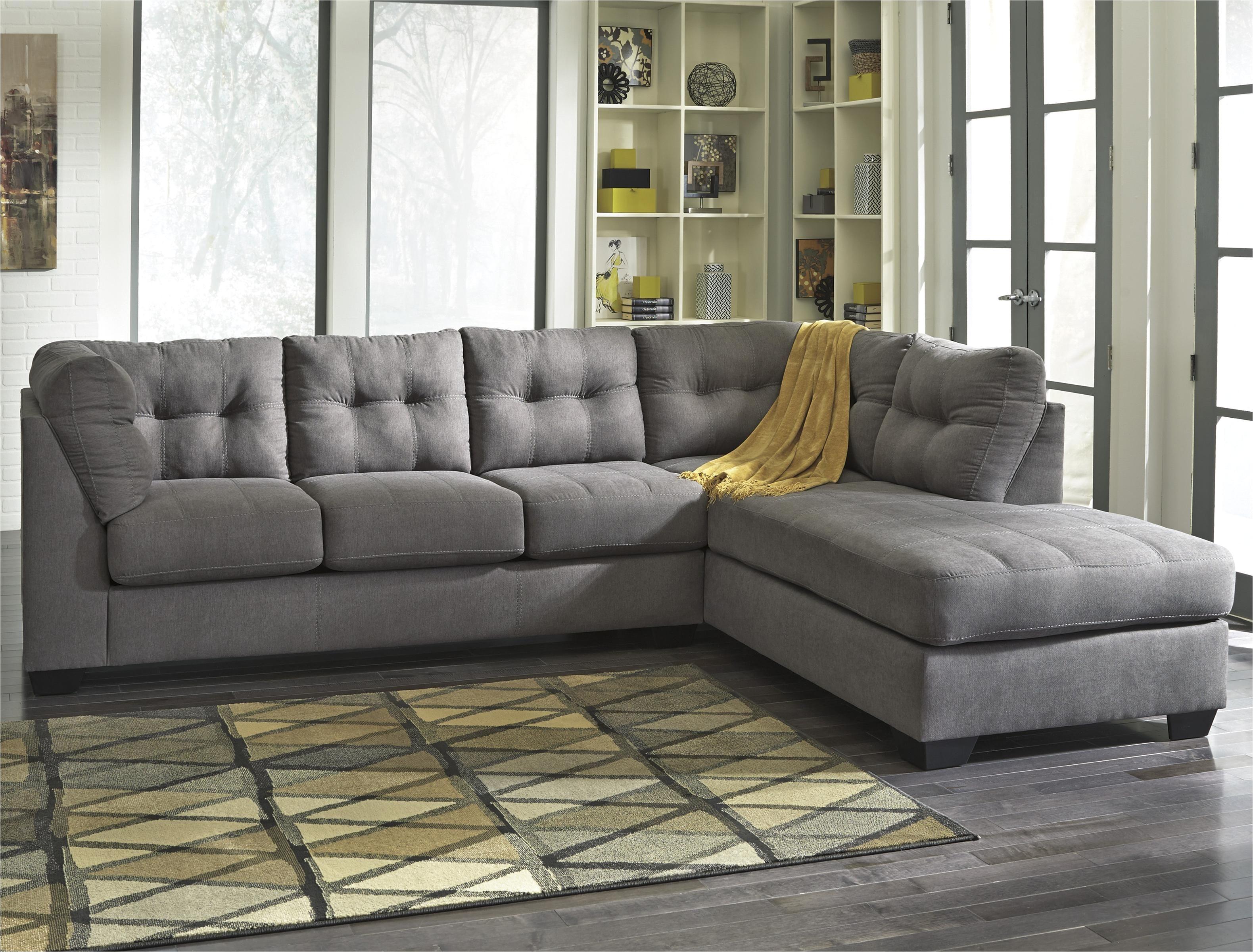 maier charcoal 2 piece sectional w sleeper sofa