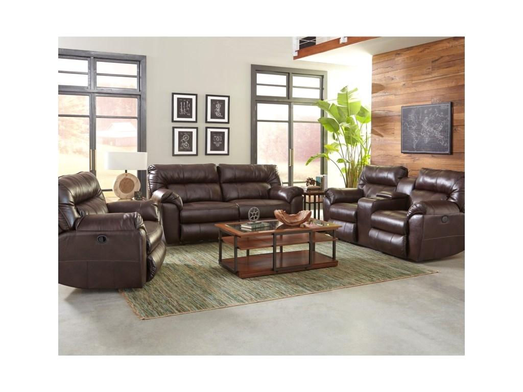 klaussner freemanreclining living room group