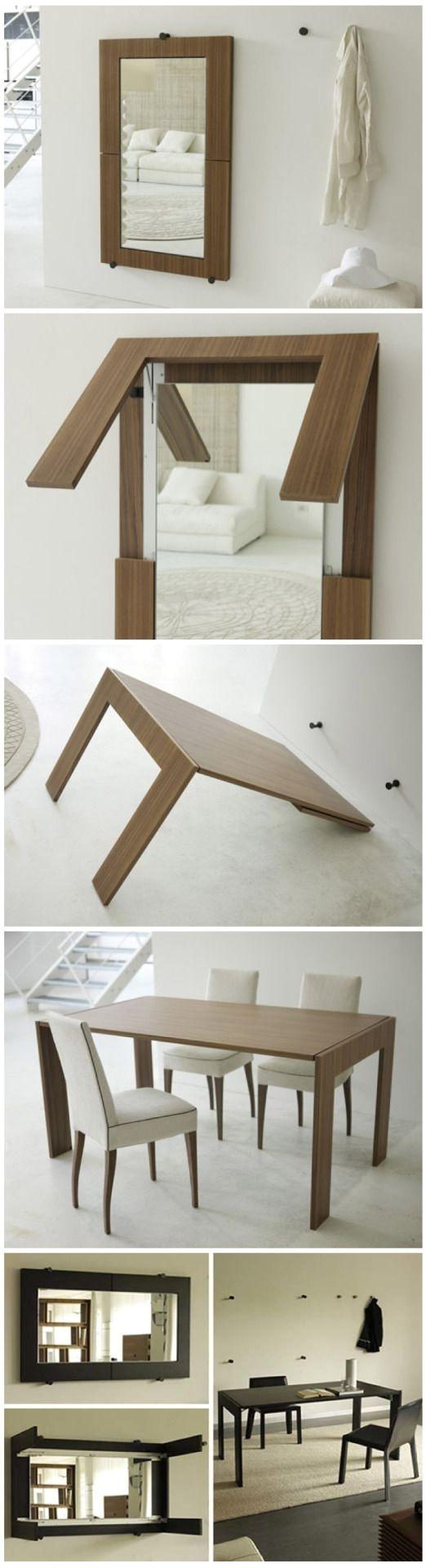 mirror table conversion muebles que se modificanque surtende la maleta maleta que