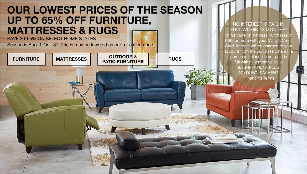 our lowest prices of the season up to 65 percent off furniture mattresses and rugs