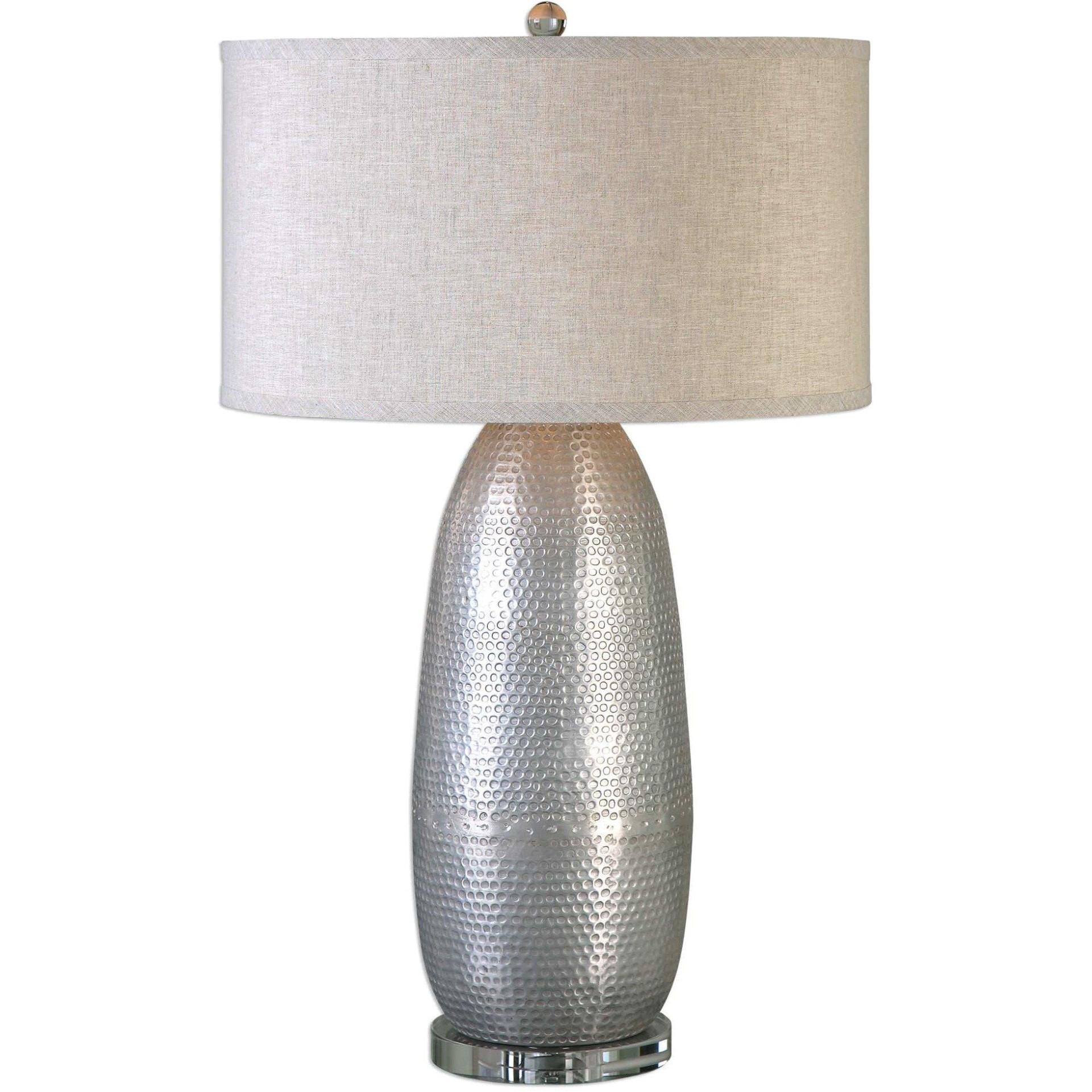 uttermost 1 tartaro industrial silver table lamp