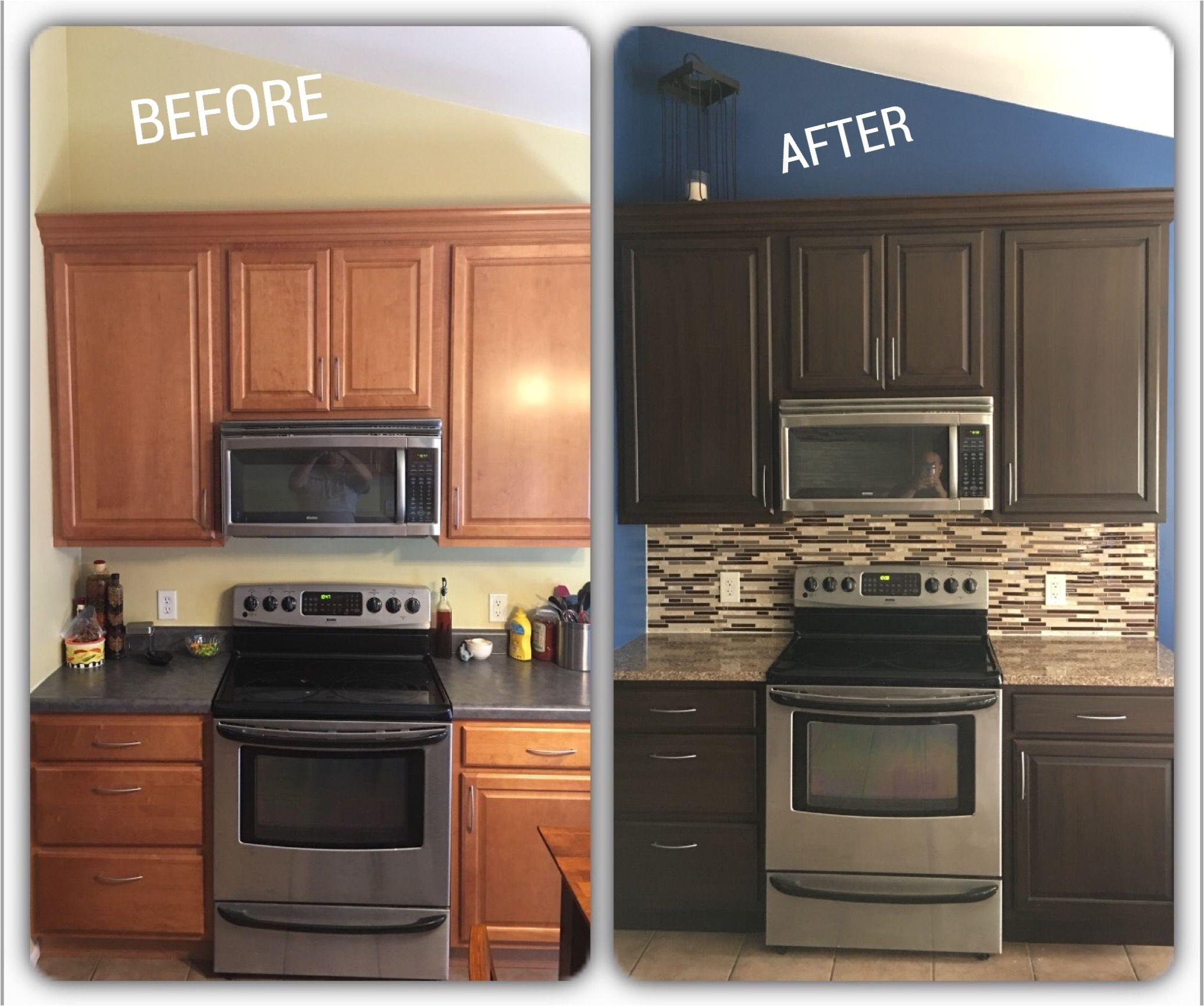 used rustoleum cabinet transformation