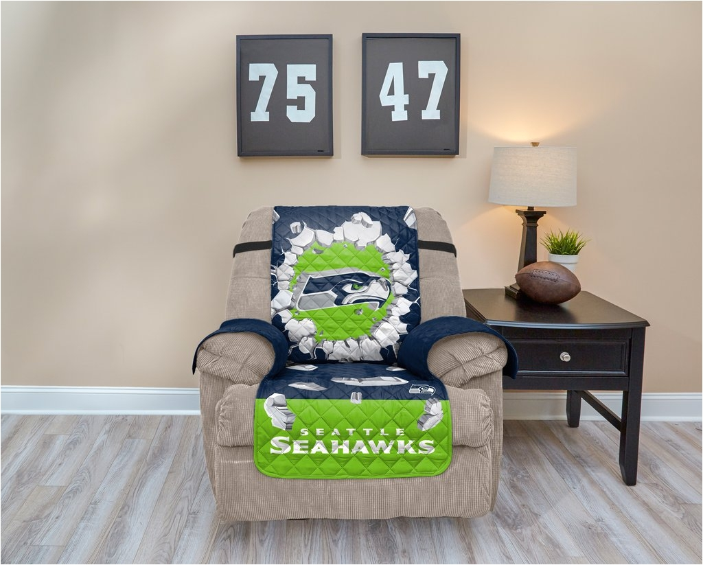 seattle seahawk explosion furniture protector with elastic straps