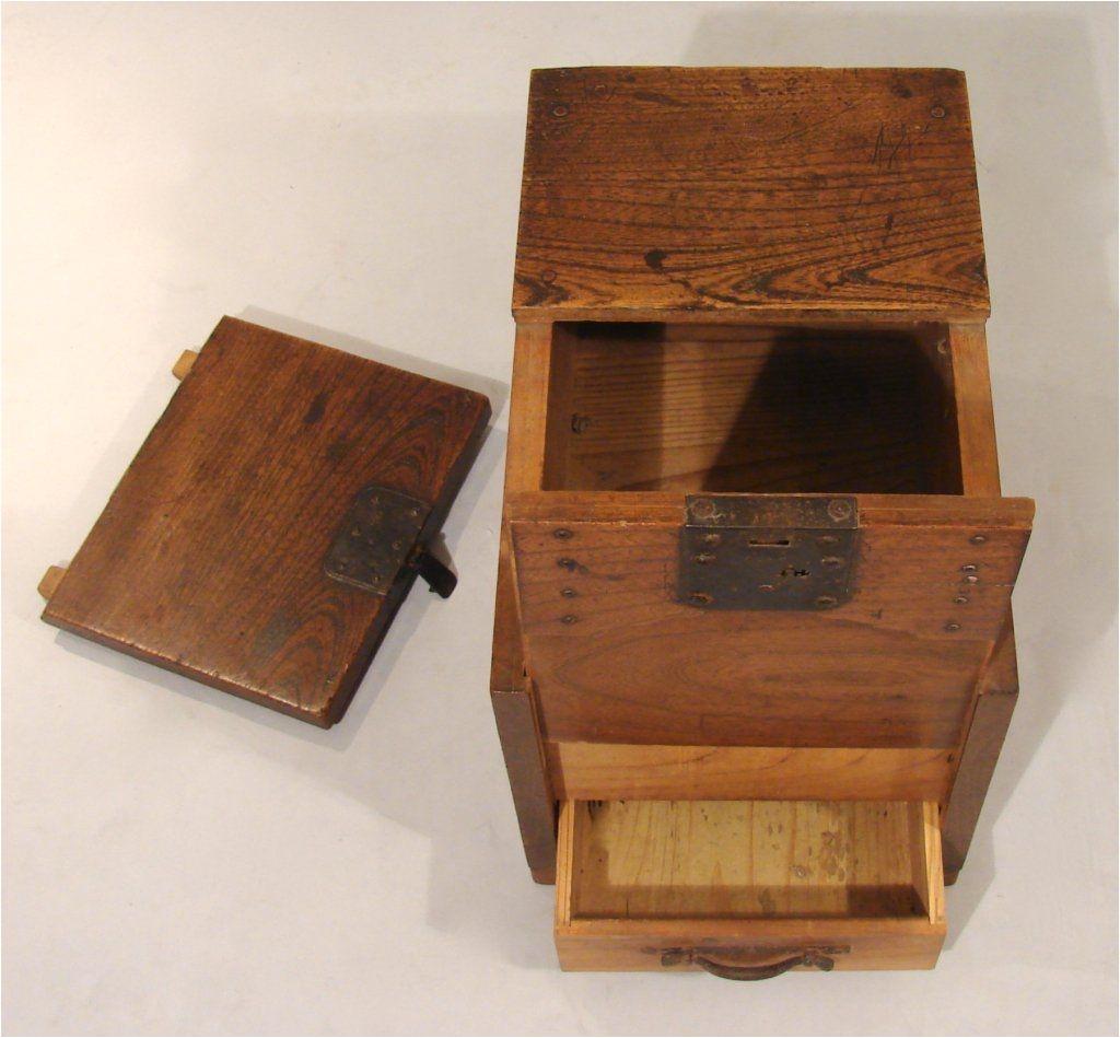 japanese merchants chest zenibako with a secret compartment 4