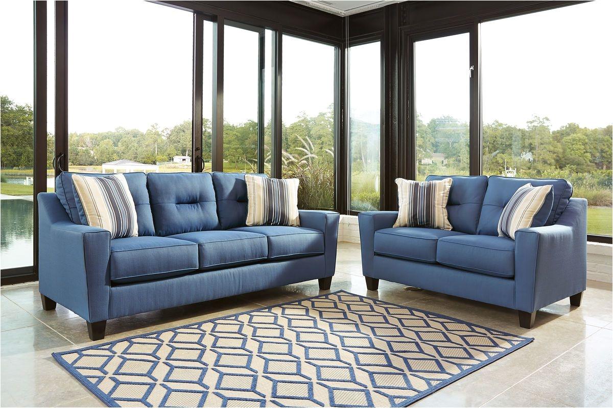 forsan nuvella blue sofa loveseat united furniture