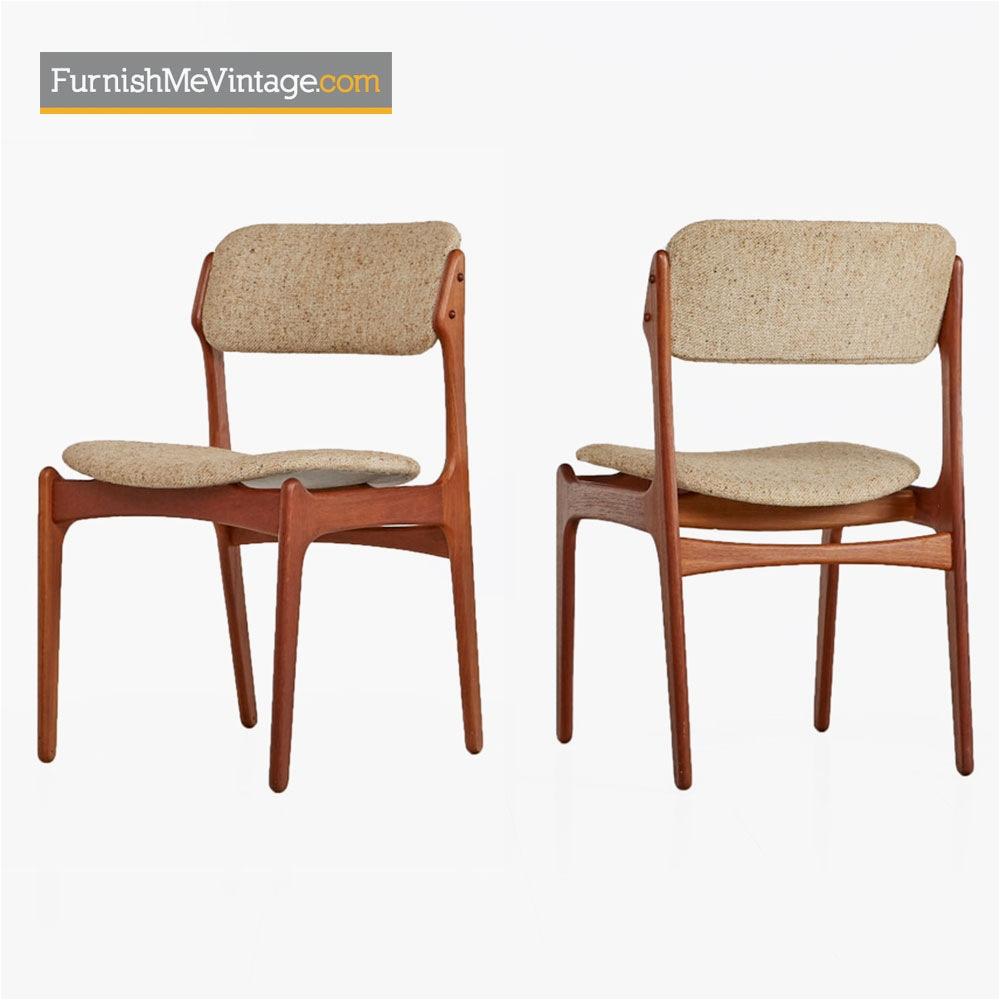 erik buch dining chairs model od 49 modern danish teak