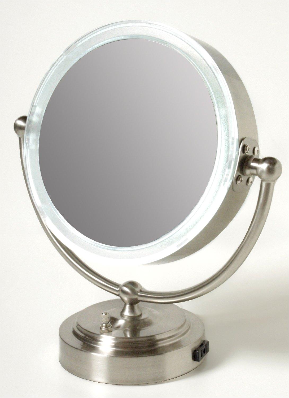 tweezerman 15x lighted magnifying mirror table top vanity