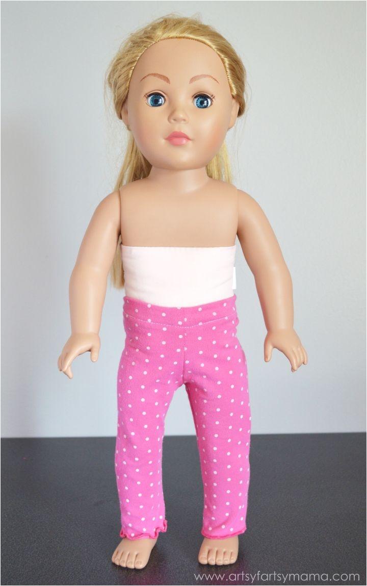 easy leggings for 18 inch or american girl dolls with free printable pattern at artsyfartsymama