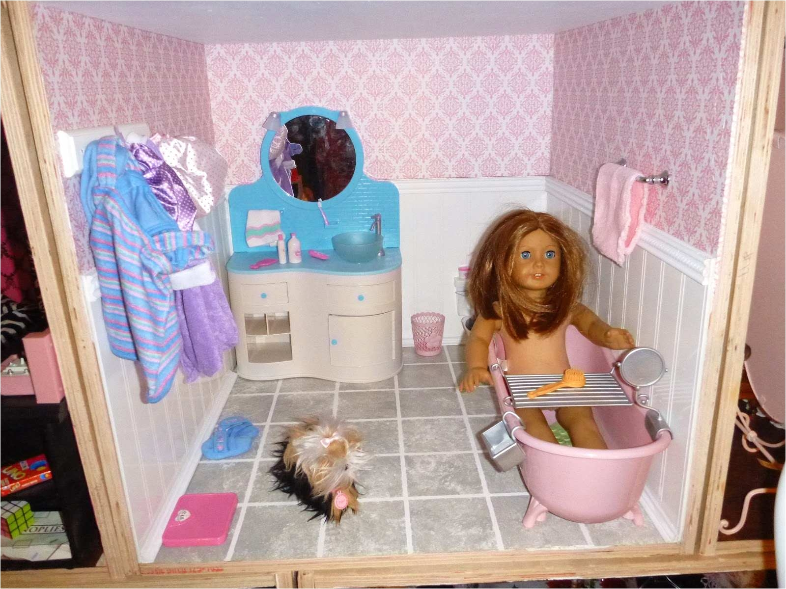 remarkable american girl doll bathroom set on american girl doll houses plans easybuildingplans 0d house plan