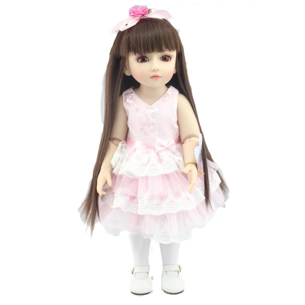 npk 1 4 bjd doll 45cm 18 ball jointed reborn babies doll girl full vinyl adora lifelike newborn baby bonecas bebe kid bath toys in dolls from toys